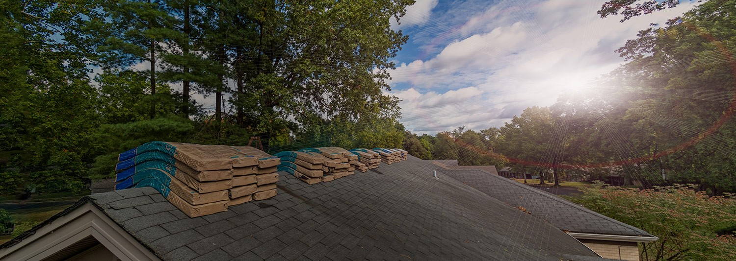 Getting ready to do some roofing on a sunny day in Delaware